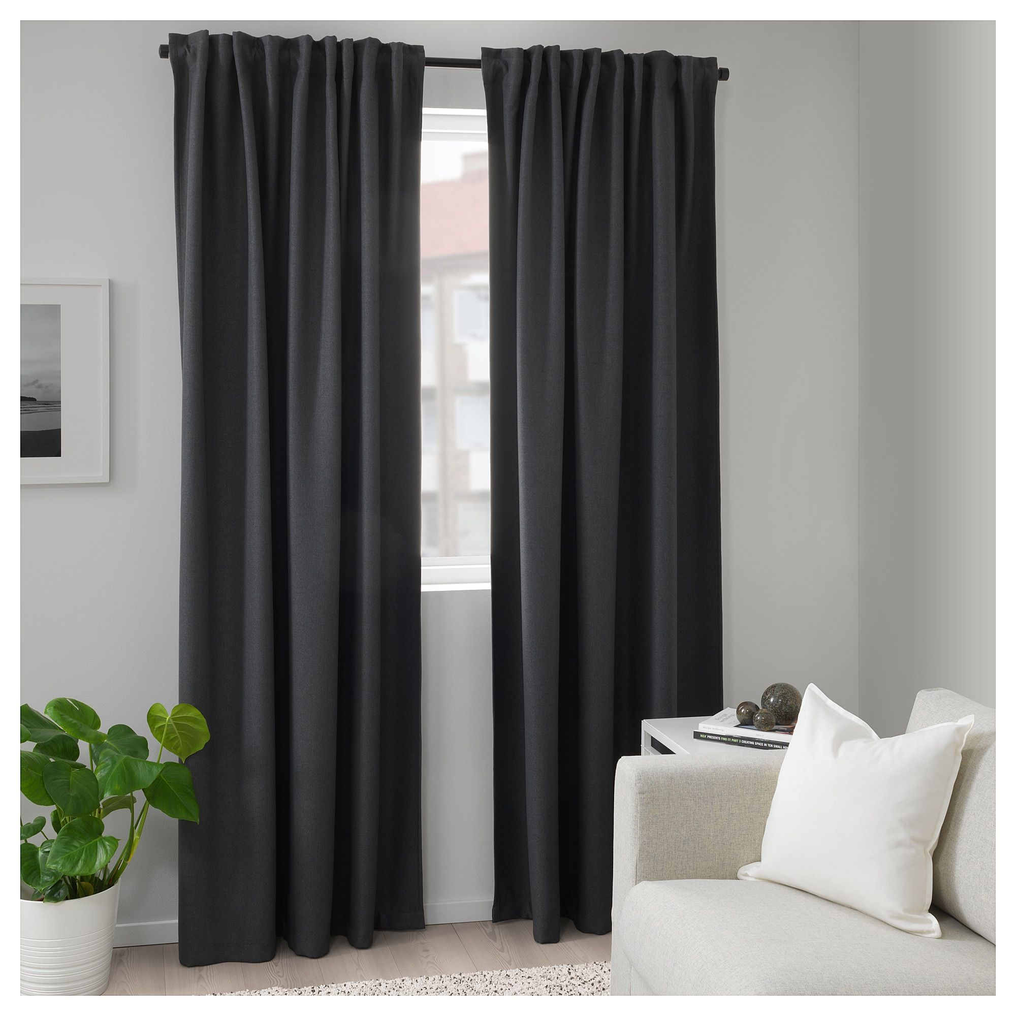 Annakajsa Room Darkening Curtains 1 Pair Gray 57x98 Ikea Curtains Bedroom Block Out Curtains Room Darkening Curtains