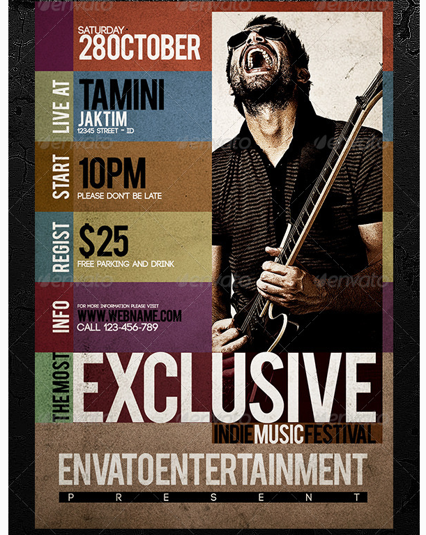 Indie Music Flyer Template  Party Flyer Templates For Clubs