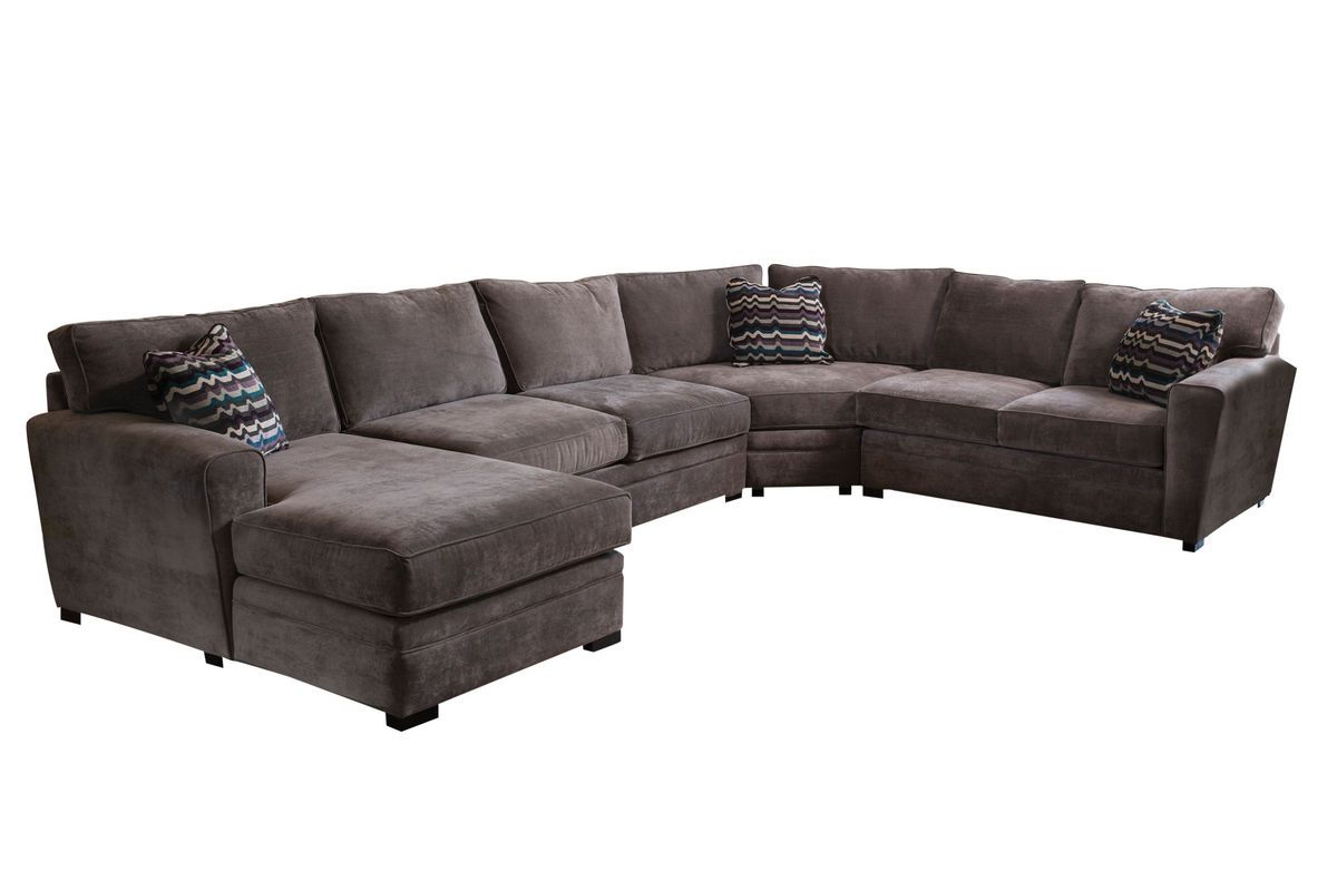 gypsy four piece left arm sectional from gardner white furniture