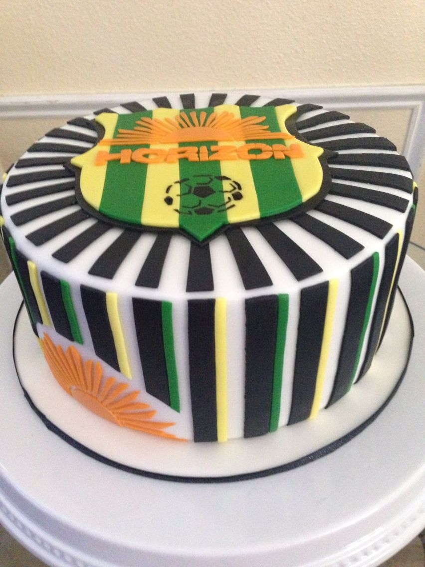 Soccer League Logo Cake