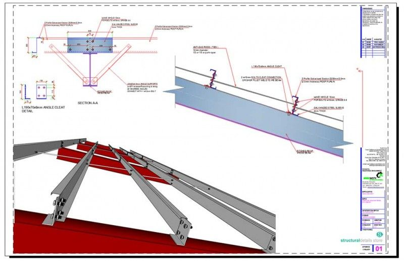 Z Profile Galvanized Section Roof Purlin Connection Detail Steel Trusses Roof Truss Design Roof Detail