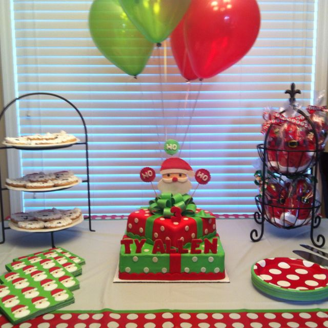 Superior Christmas Themed Birthday Party Ideas Part - 5: Santa Themed Birthday Party