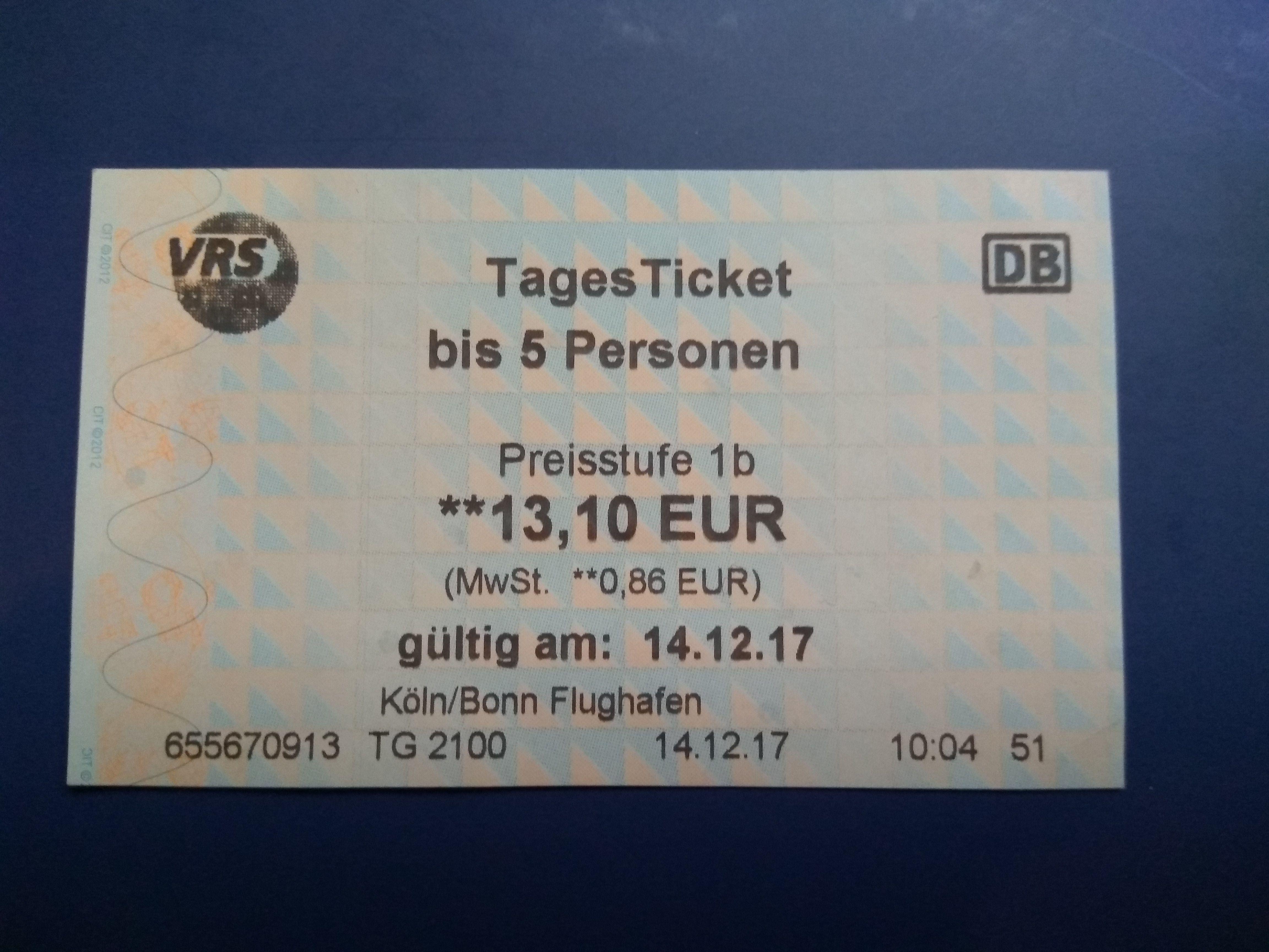 Ticket diario para 5 días Colonia