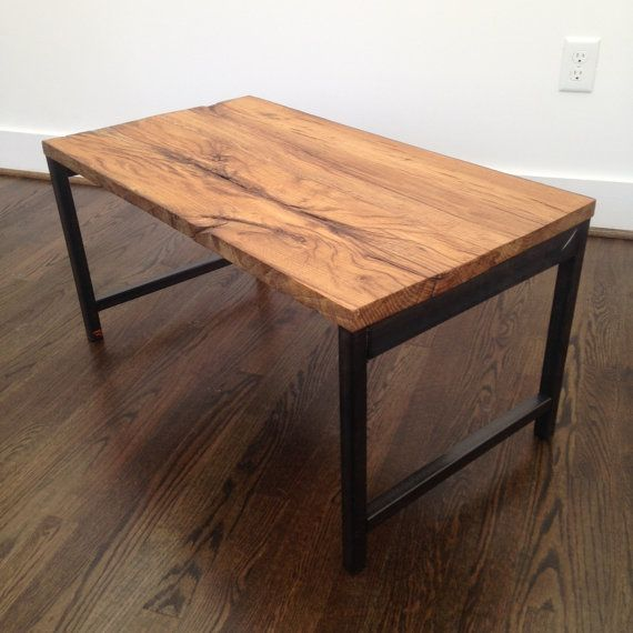The Rocky Coffee Table Is A Small That Packs Punch This Made From Thick Reclaimed White Oak Planks Philadelphia