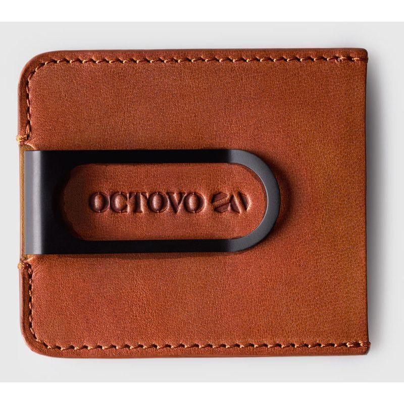 Octovo Dualist Money Clip   Chestnut