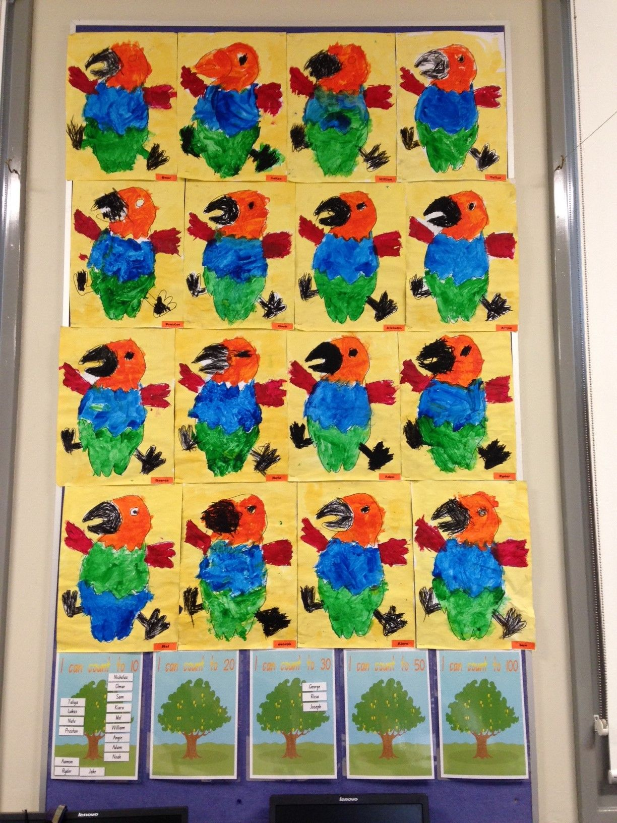 How The Birds Got Their Colours Artworks By Kindergarten