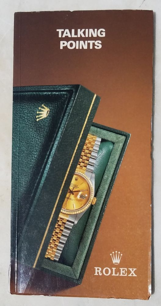 1992 rolex talking points 48pgs free usa shipping dealer s guide