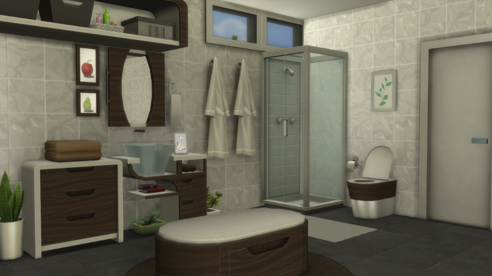 Eco Bathroom Mini Cc Set Base Game Compatible I Have Been Extremely Busy Over The Last Few Weeks With All The Things Going In 2020 Eco Bathroom Modern Housewares Sims