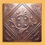 """20""""x20"""" Anet Antique Copper Graphite Ceiling Tiles"""