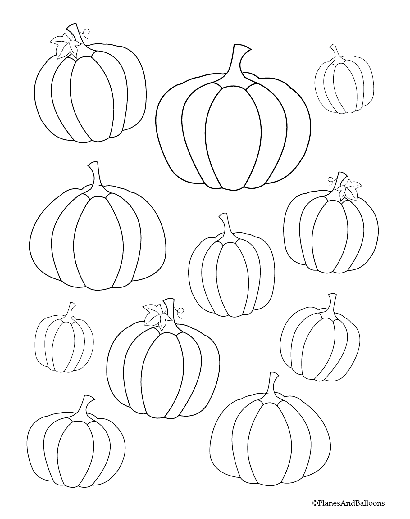 Fall Coloring Pages For Young Children FREE Instant Download | Free ...