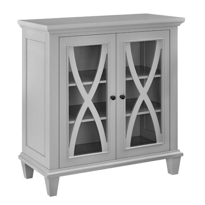 Rosendale 2 Door Accent Cabinet Decorative Mouldings Door Opener