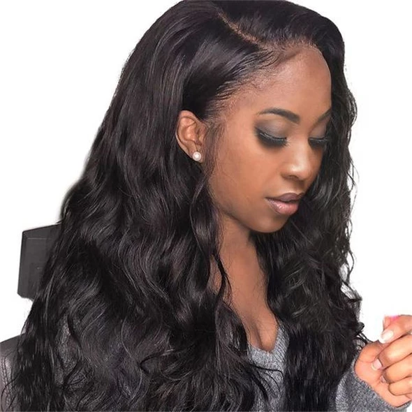 Swiss Lace Wigs Platinum Blonde Full Lace Human Hair Wig #humanhairextensions