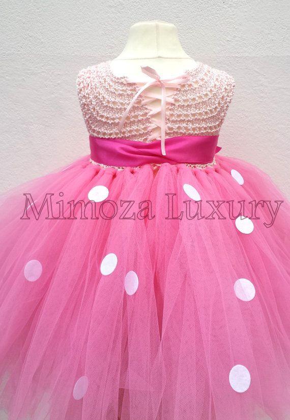 Ratón de Minnie vestido minnie mouse cumpleaños vestido
