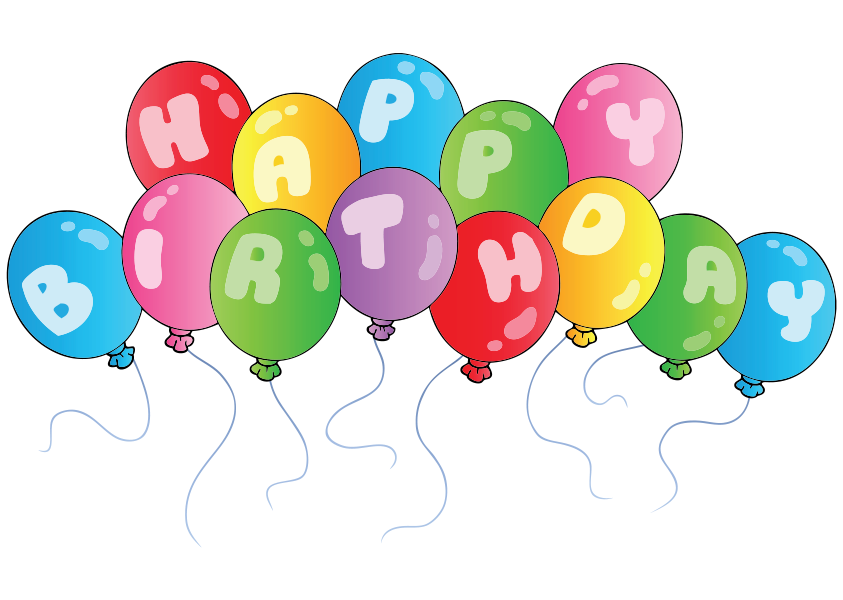 Clip Art Colorful Png Image Arts Happy Birthday Balloons Clipart Transparent Png Kindpng