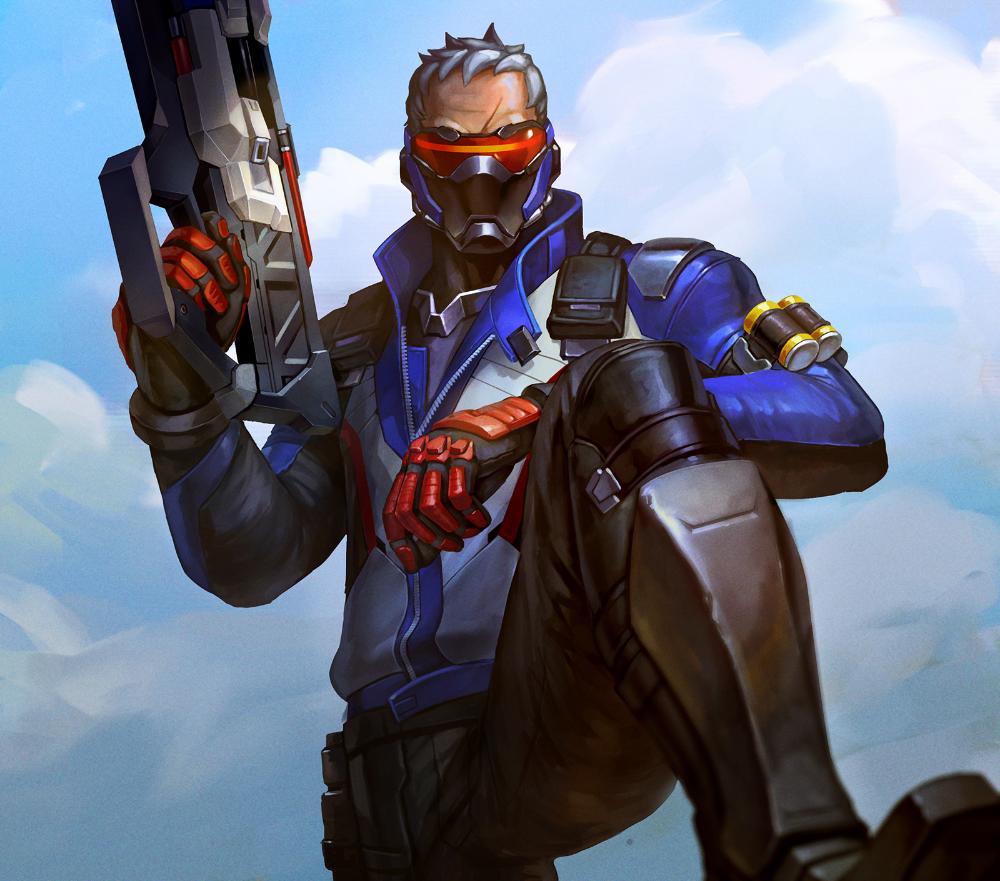 Artstation Soldier 76 Gelar Esapria Kharisma Soldier 76 Overwatch Fan Art Overwatch
