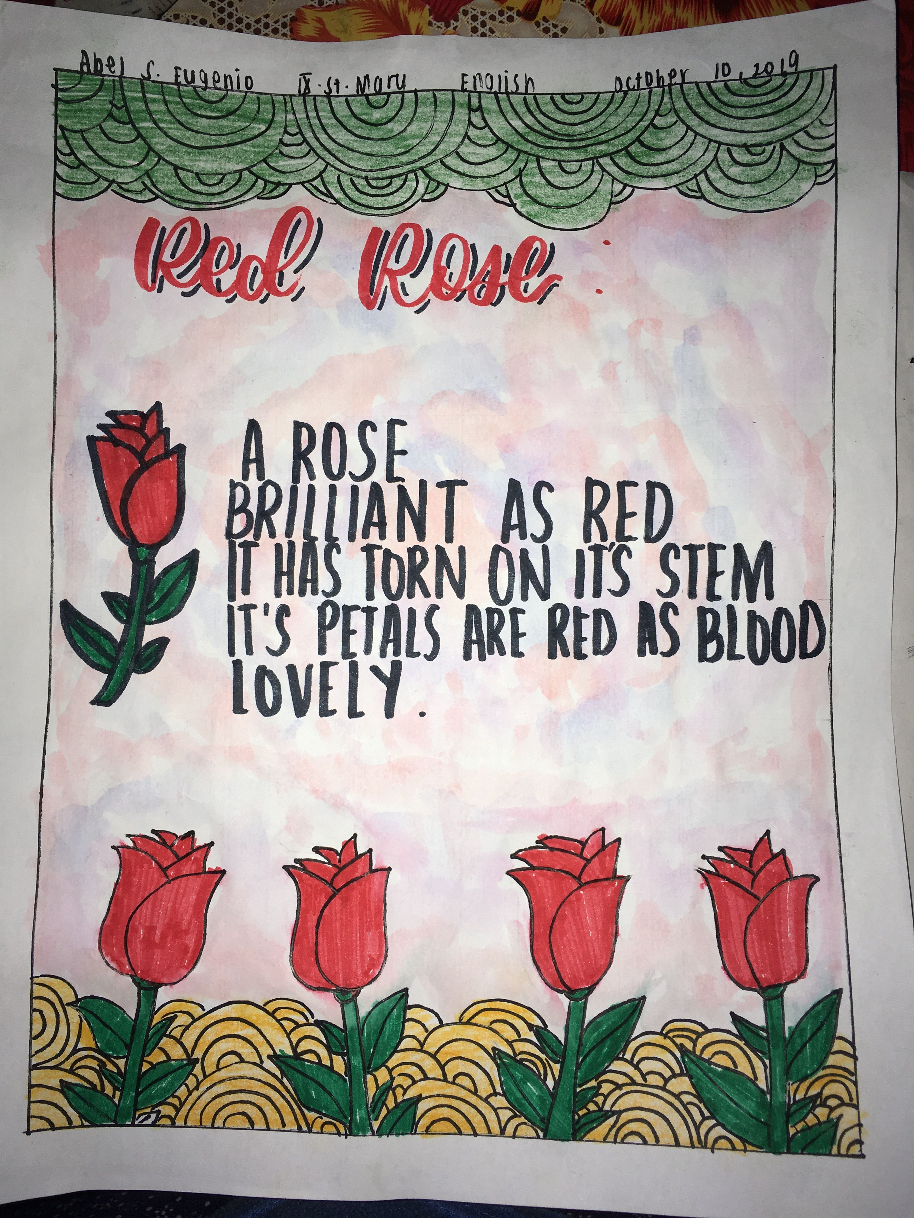 It Is A Cinquain Poem With A Rose Doodle Hope You Like It