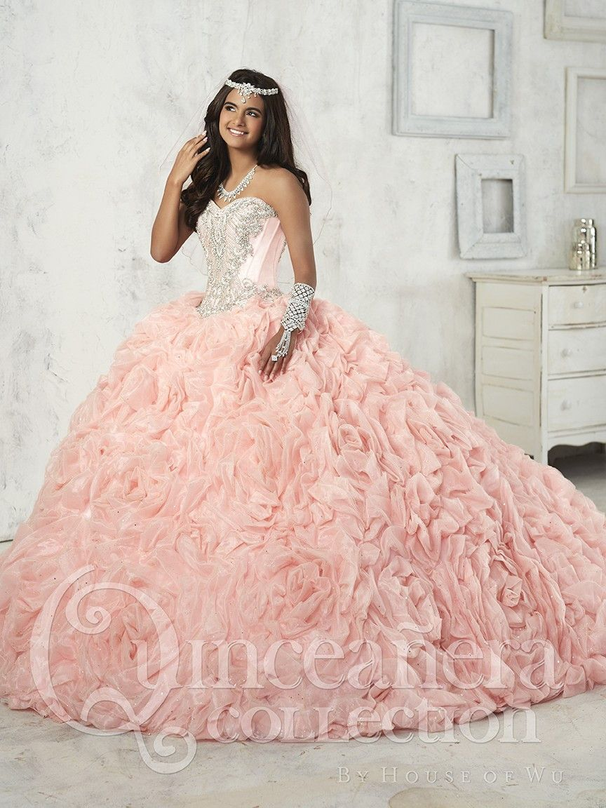 db6ec357683 Ruffled 3 Piece Quinceanera Dress by House of Wu 26906 t