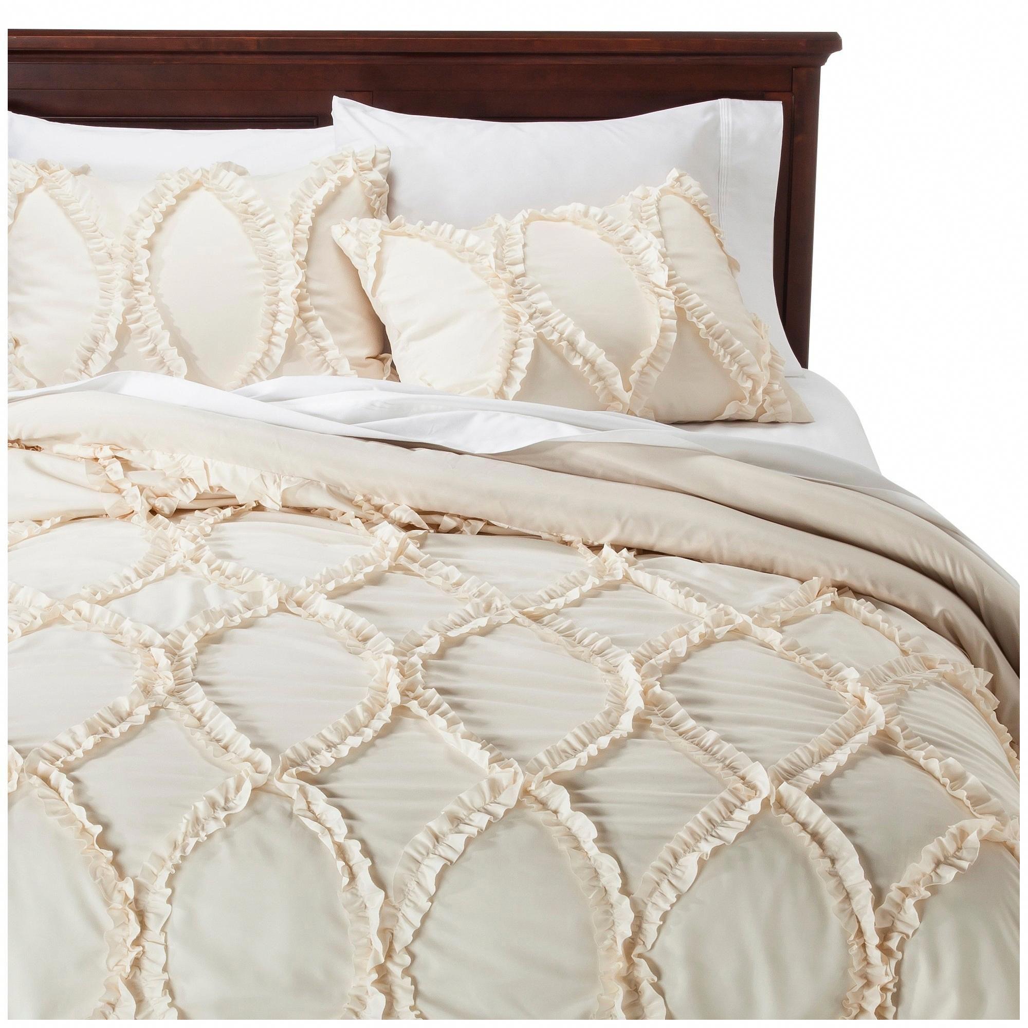 Avon ogee texture comforter set king ivory 3pc lush