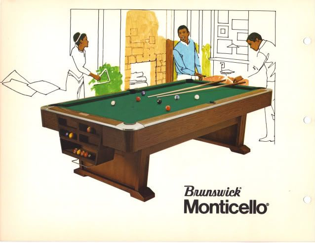 Brunswick Billiards Monticello Pool Table Sold