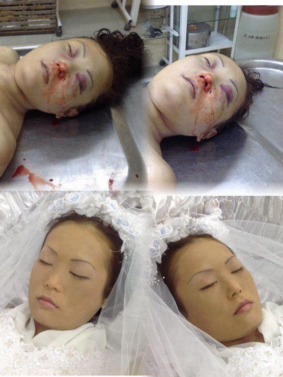 before-after, this mortician did an excellent work Ms mortician