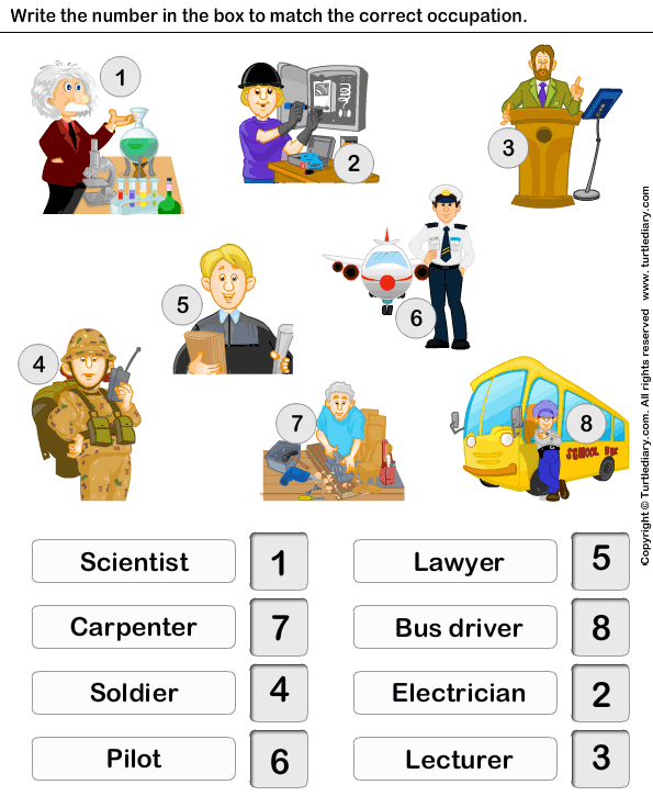 Jobs and Occupations-Worksheet 9-TurtleDiary.com ...