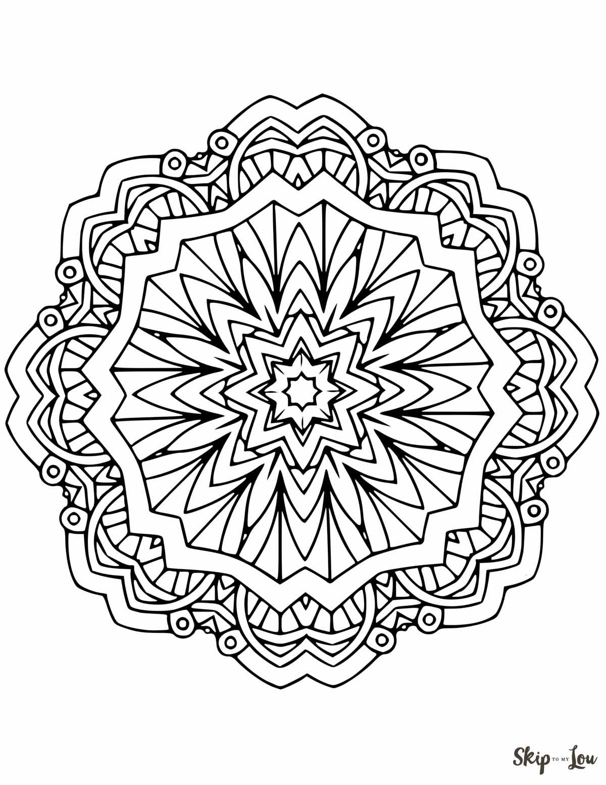 Beautiful Free Mandala Coloring Pages Mandala Coloring Pages Geometric Coloring Pages Abstract Coloring Pages