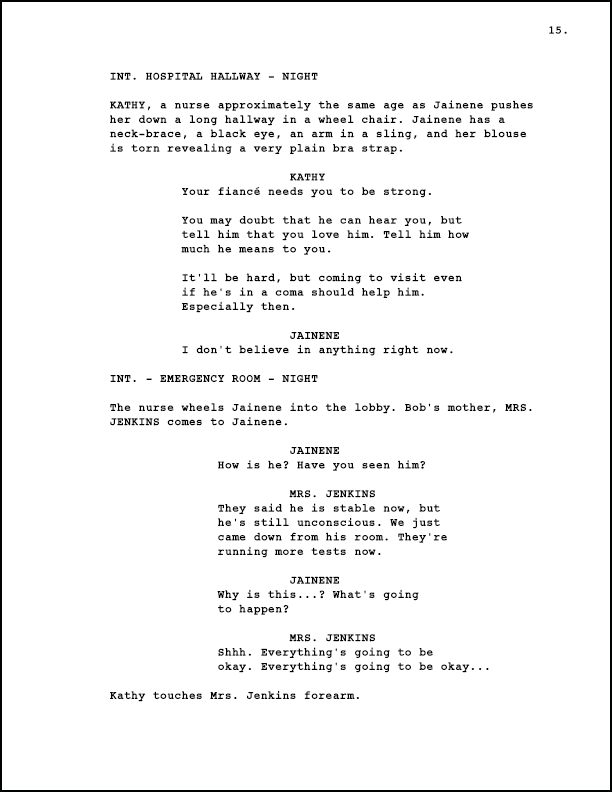 Just Sharing A Screenplay Formatting Sample Dunno If YouVe Ever