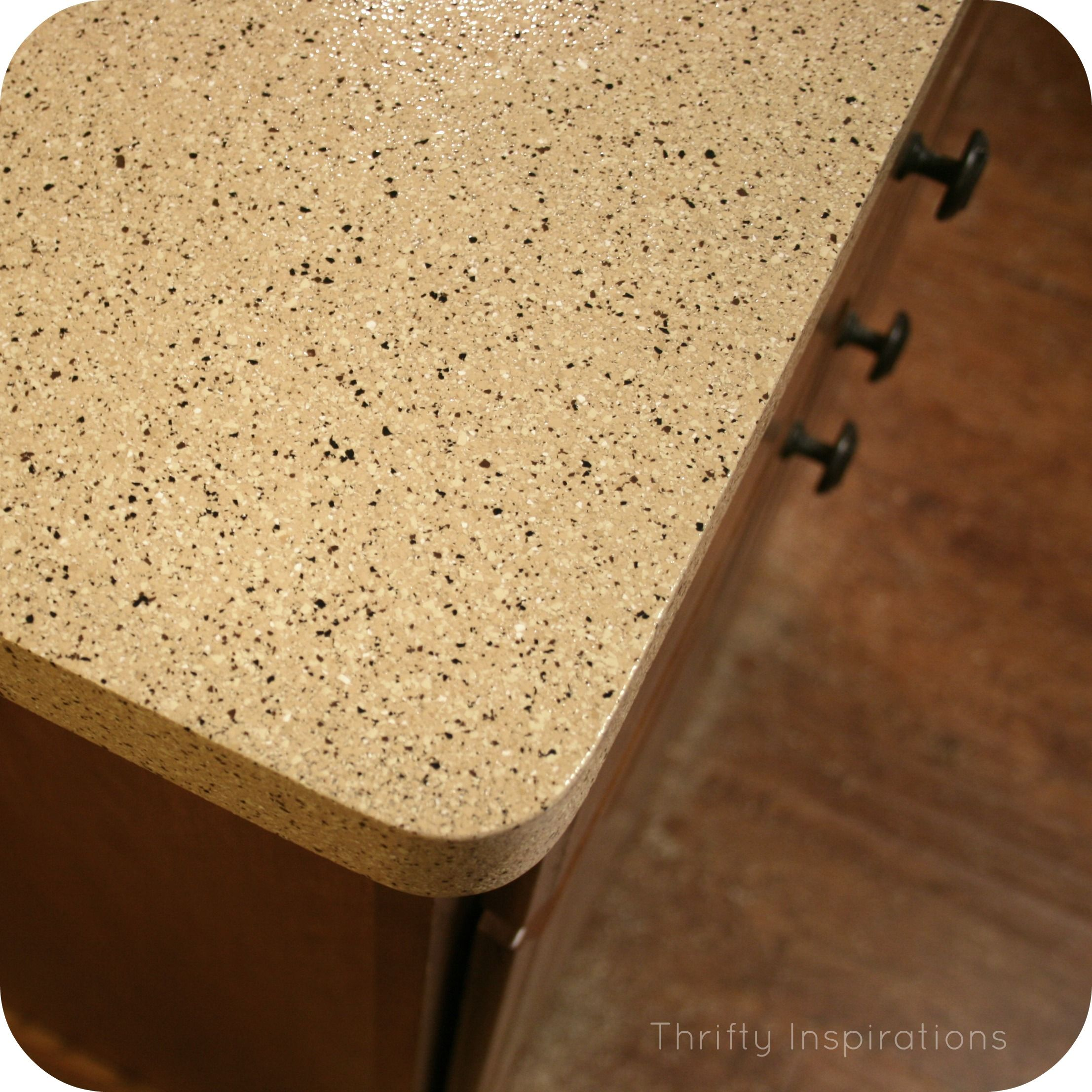 Laminate Countertops Redone Using Rustoleum Countertop Transformations Kit In Desert Sand This Is