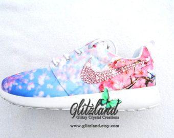 Nike shoe · SALE!! Swarovski Nike Cherry Blossom Roshe Blinged with pink  SWAROVSKI® Crystals