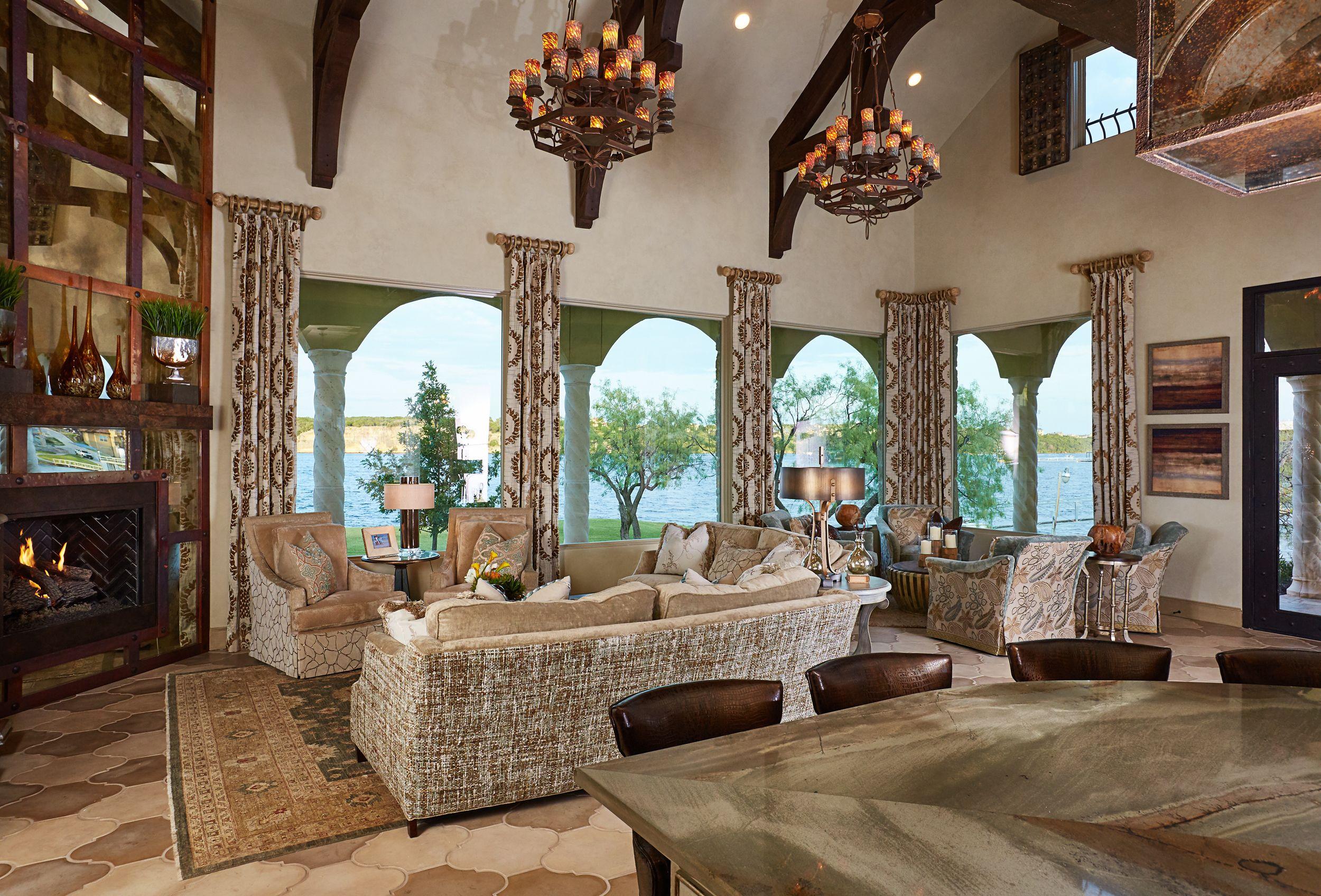 Italian Villa Interior Design Grandeur Draperies Pinterest