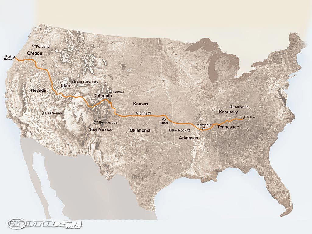 Travel the Trans America Trail 4800 miles of