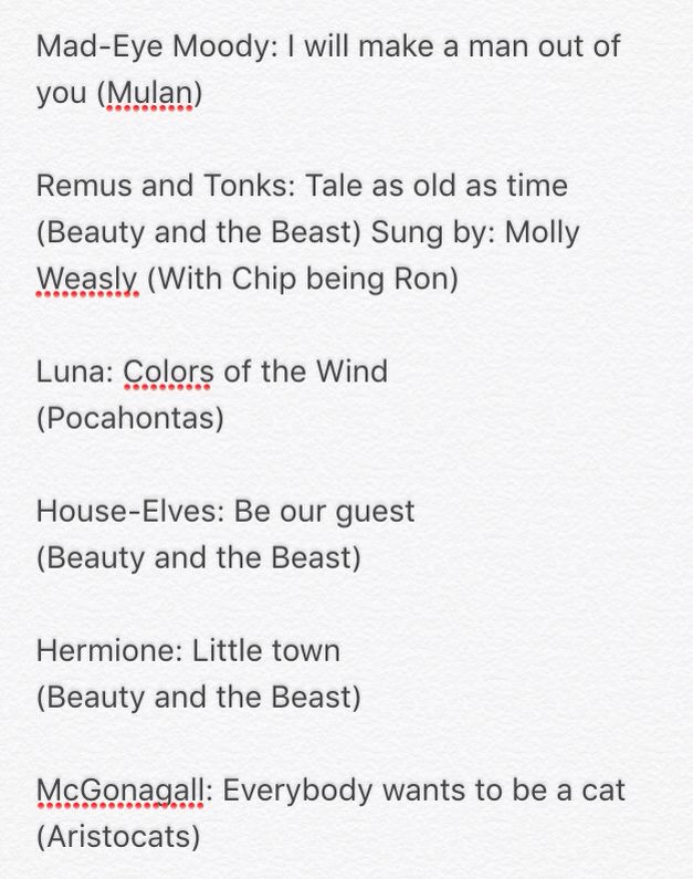 Harry Potter Characters And Their Disney Theme Songs Part 1 Created By Thea Percy Jackson Characters Harry Potter Characters Percy Jackson And The Olympians