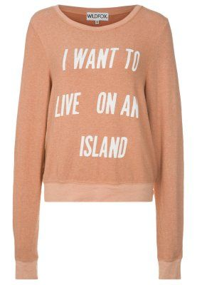 LIVE ON AN ISLAND - Collegepaita - beige