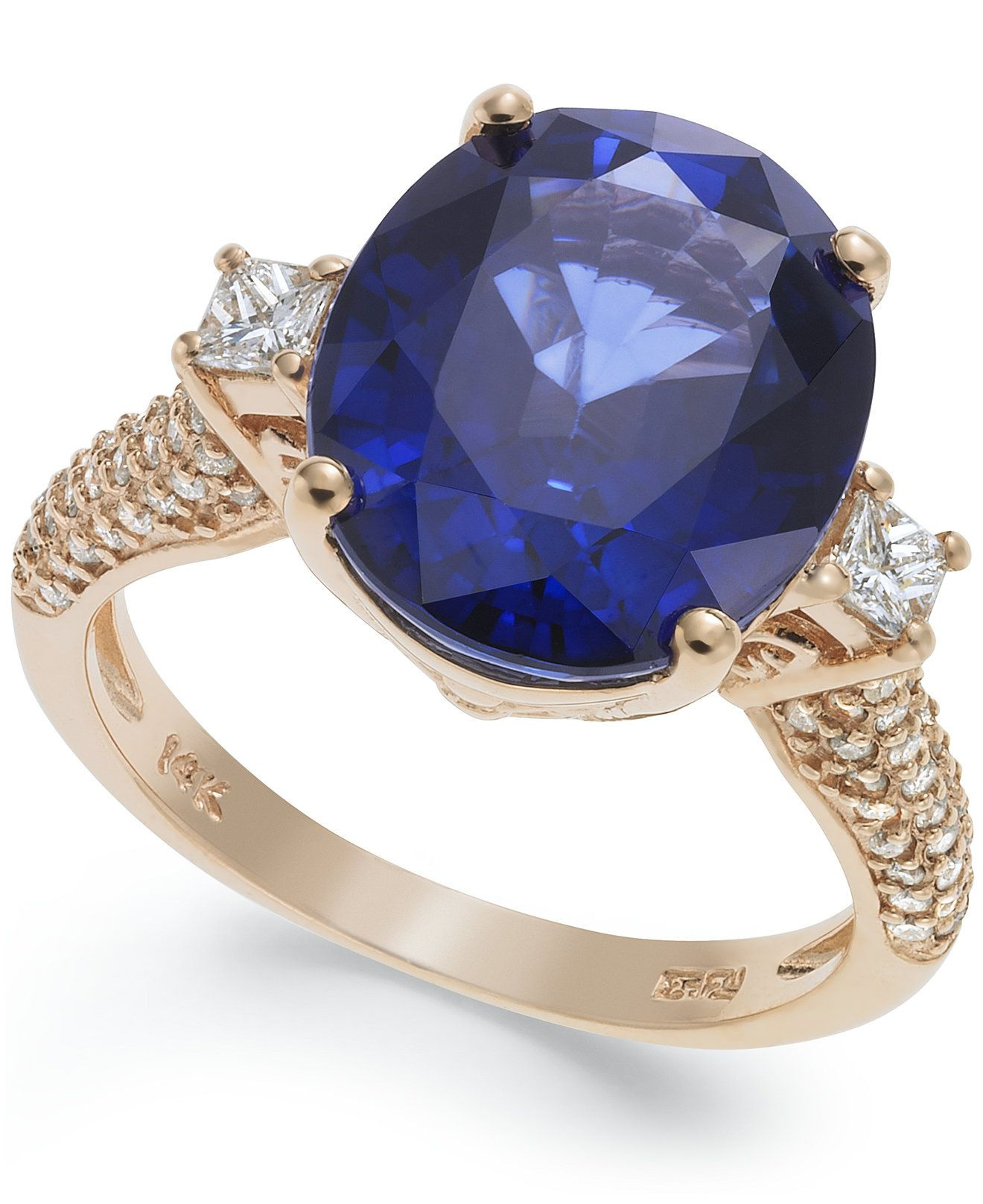 Velvet Bleu by EFFY Manufactured Diffused Sapphire (6-3/4 ct. t.w.) and Diamond…