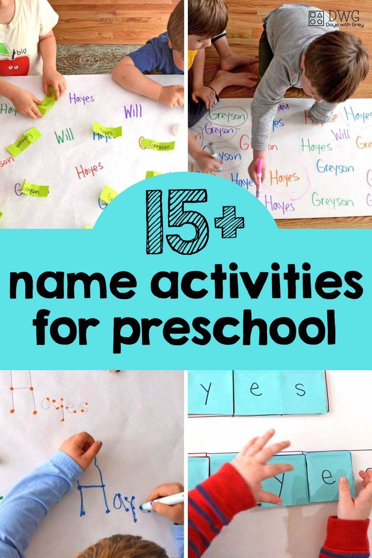 15 Name Activities Homeschool Preschool Activities Name Activities Preschool Learning Name writing activities for preschoolers