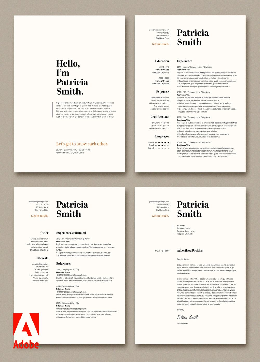 Create opportunities with adobe stock try this resume and