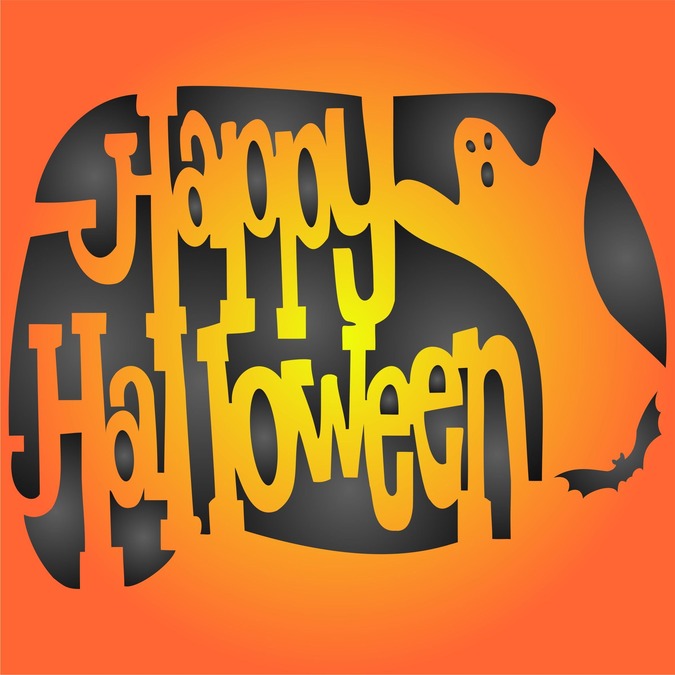 Happy Halloween Stencil size 6.5†w x 5†h Reusable