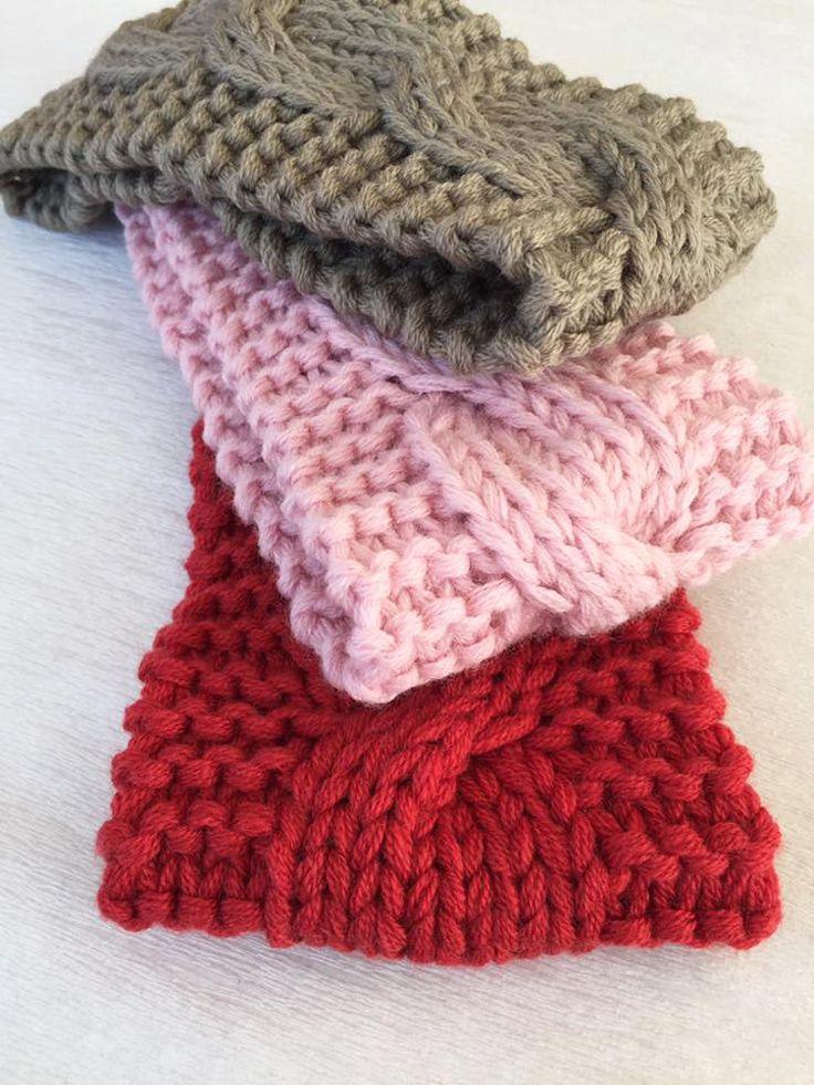 Knitted Merino Wool headband Wool earwarmer Spring