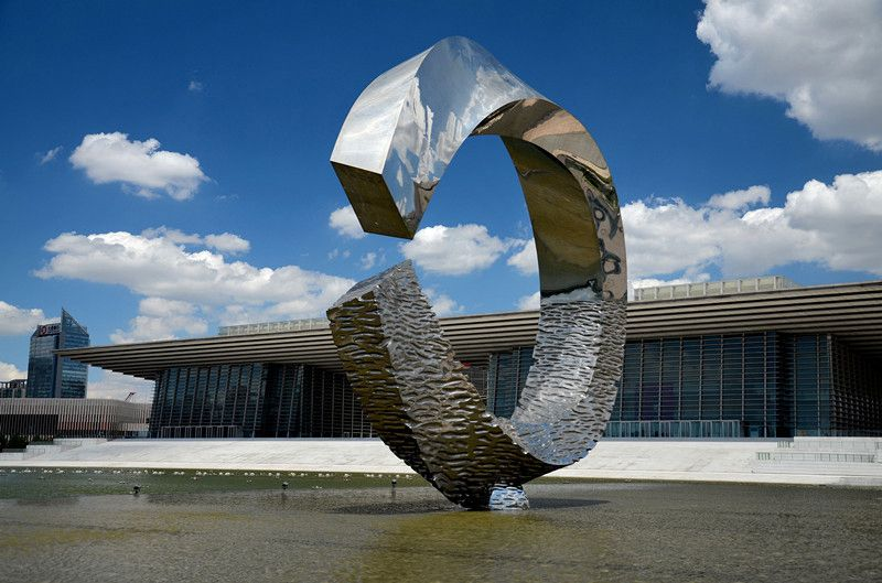 Moon Over Water #Large #Outdoor #stainless #steel #sculptures Metal