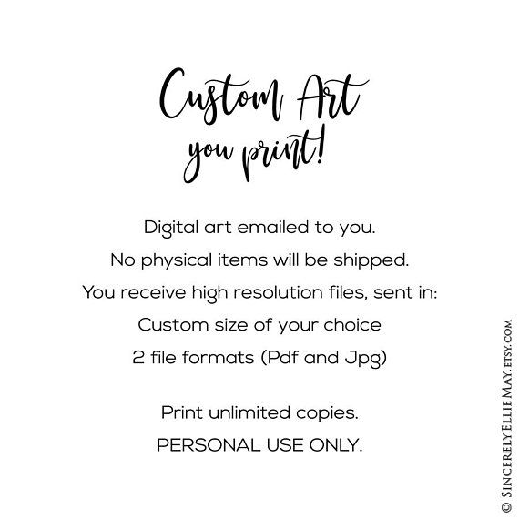 Custom Quote Printable - Your Words Personalized specially for you ...