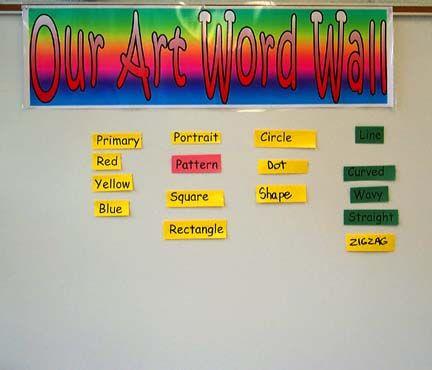 create an *art word wall* on your school\'s bulletin board | DIY ...
