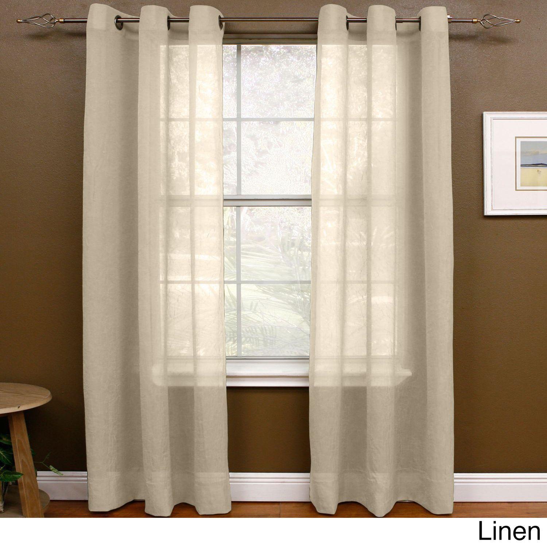 Miller Curtains Preston 108 Inch Sheer Grommet Panel 48 X 108 Curtains Curtains 1 Panel Curtains Kohls