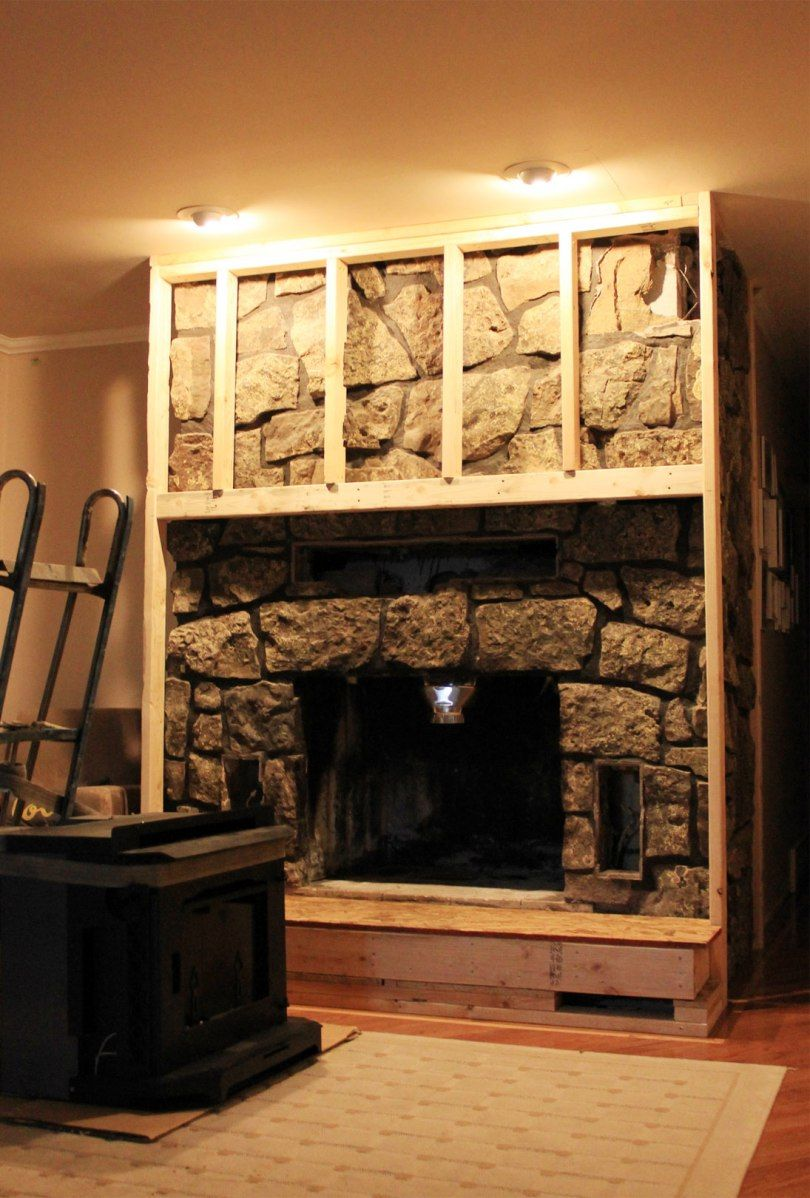 Cover Up Reface Fireplace Painted Stone Fireplace Stone