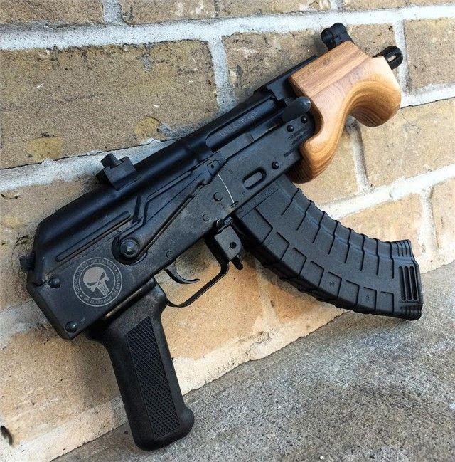 Micro Draco AK-47 AK47 Custom Engraved 7 62 Pistol   Guns