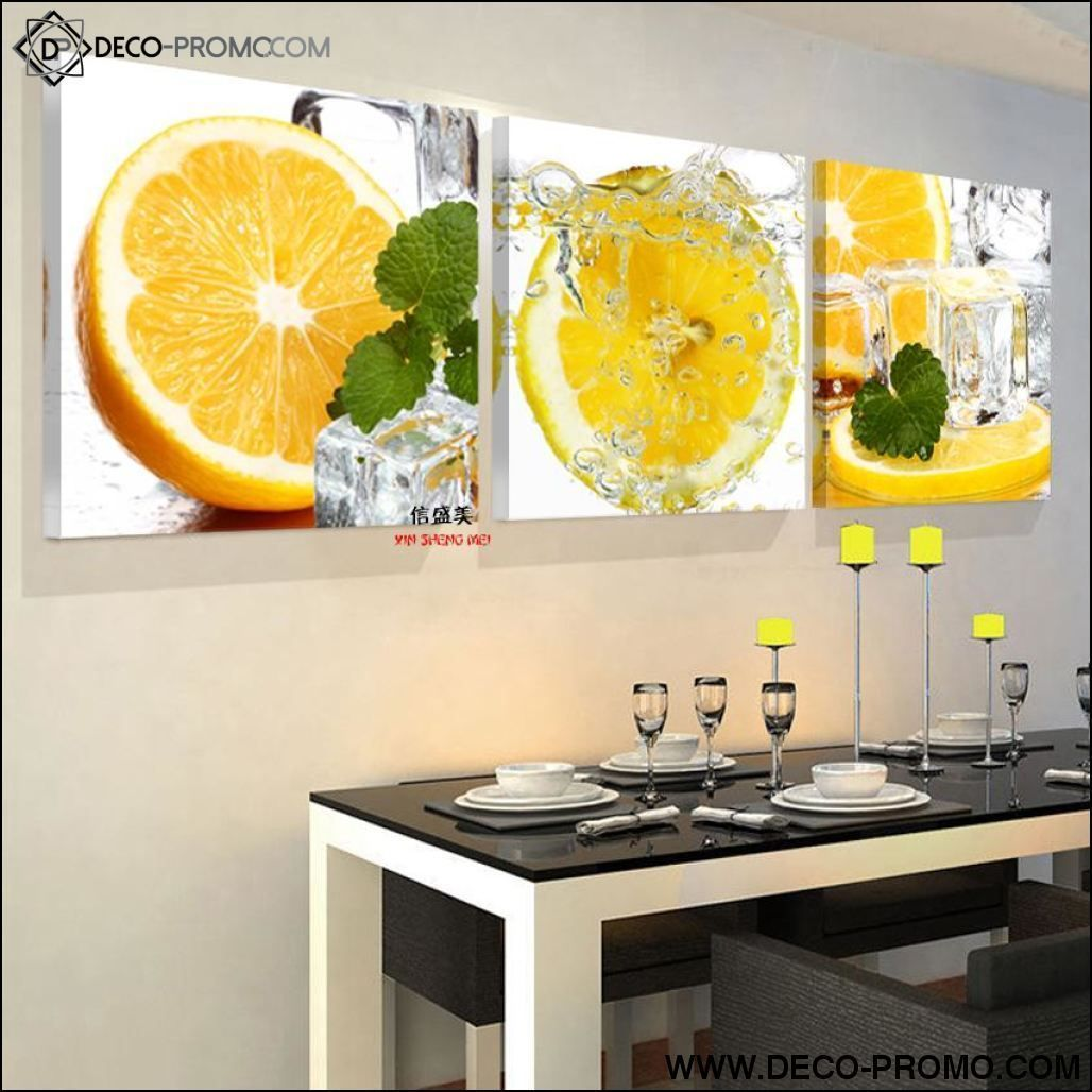 TABLEAU 19 PARTIES CUISINE CITRON FRUIT #decopromo #decoration