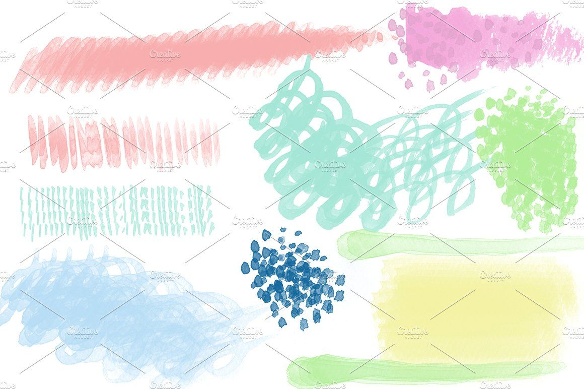 Watercolor Brushes For Photoshop High Resolution Pack Watercolor