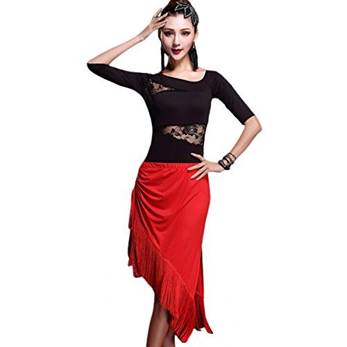 76f068d61 Womens Latin Dance Dress Rumba Skirt Stage Costume Party ... https://