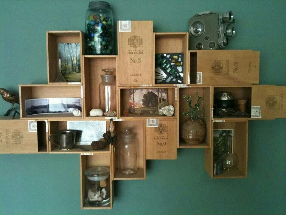 Cigar box shelves