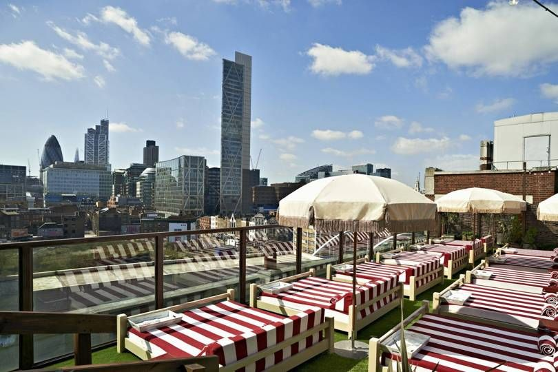 The Best Rooftop Bars In London Shoreditch House Best Rooftop Bars Roof Architecture