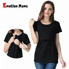 [ 33% de Desconto ] Emoção Mães Gravidez Maternidade Roupas Top Maternidade Clothing T-Shirt Para As Mulheres Grávidas Amamentação Superior De Enfermagem Superior De Enfermagem #EmotionMoms #CorNatural